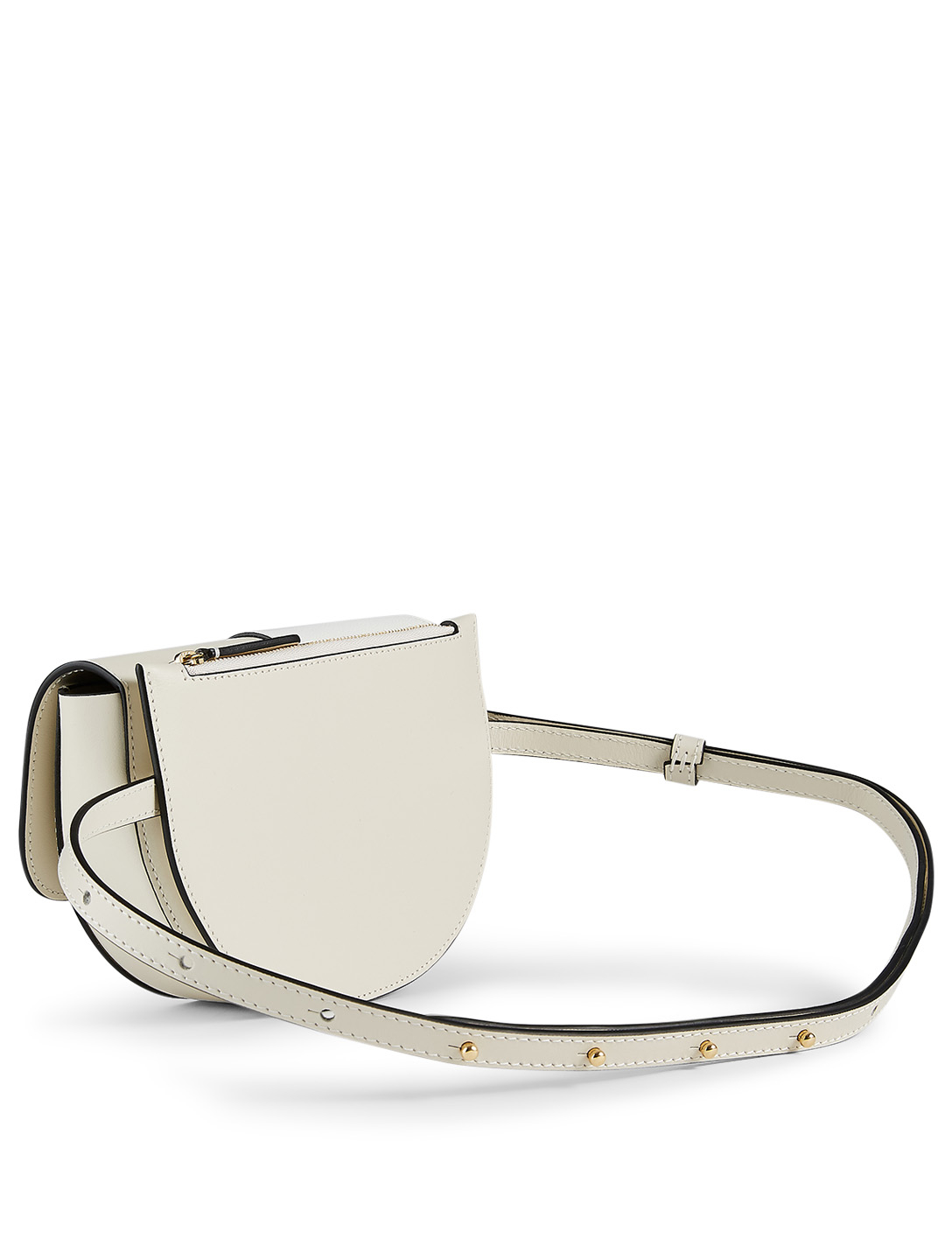 WANDLER Anna Big Leather Belt Bag Women's White