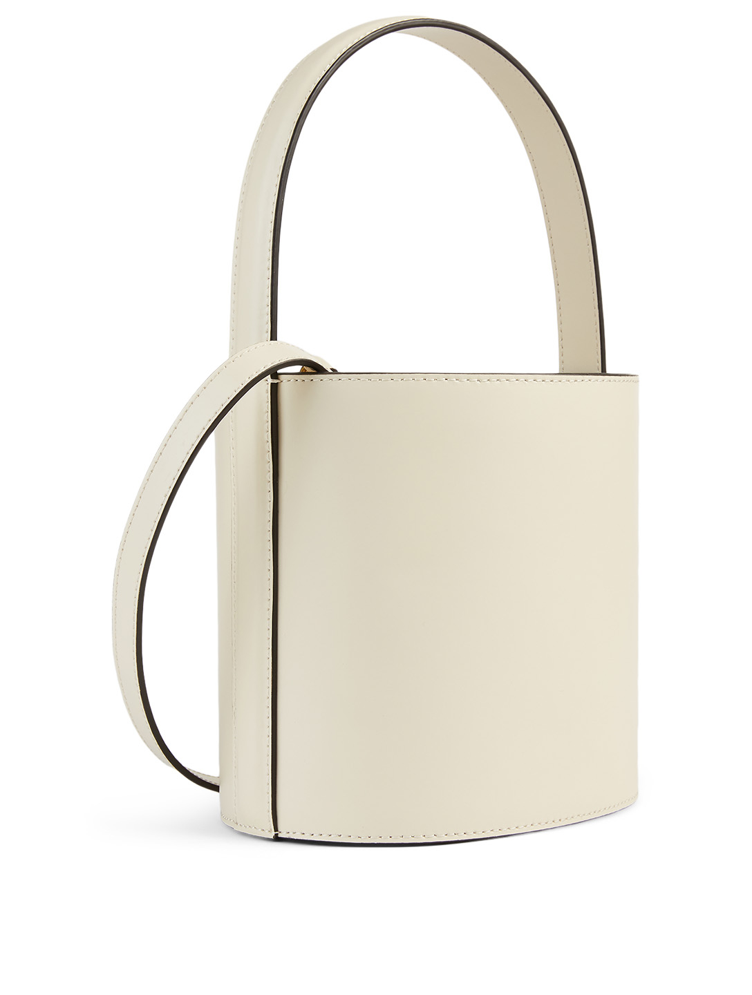 STAUD Bissett Leather Bucket Bag Women's White