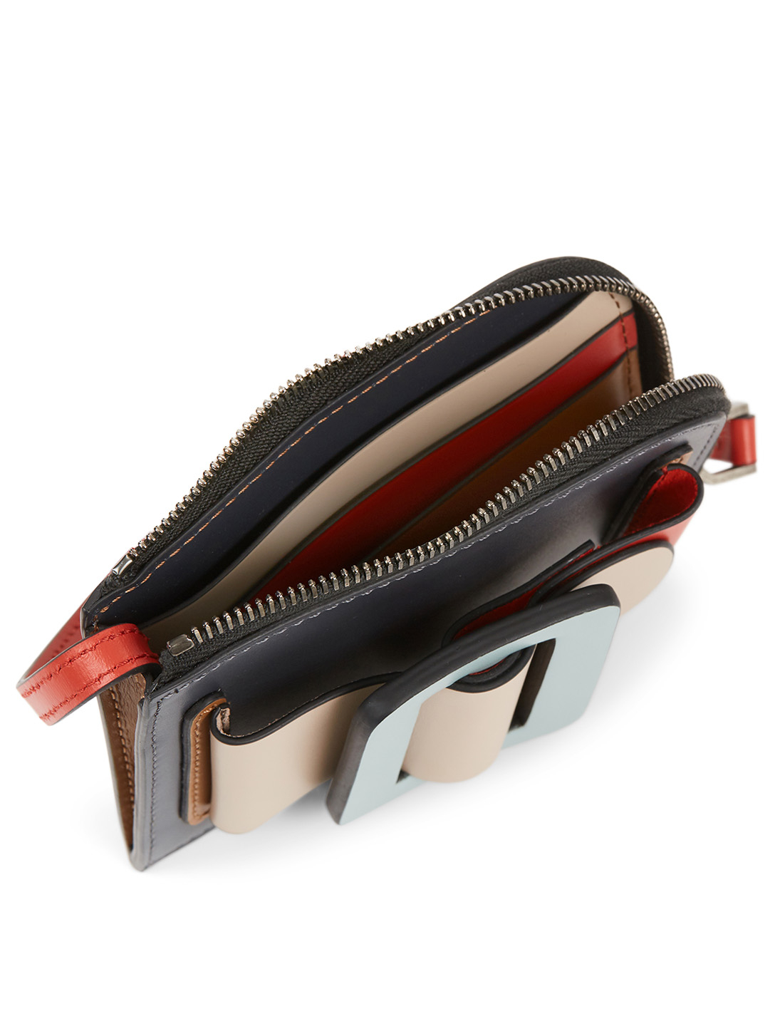 BOYY Buckle Colourblock Leather Card Holder Women's Multi