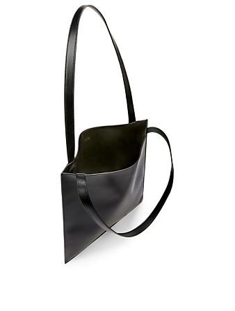 THE ROW Flat Leather Tote Bag Women's Black