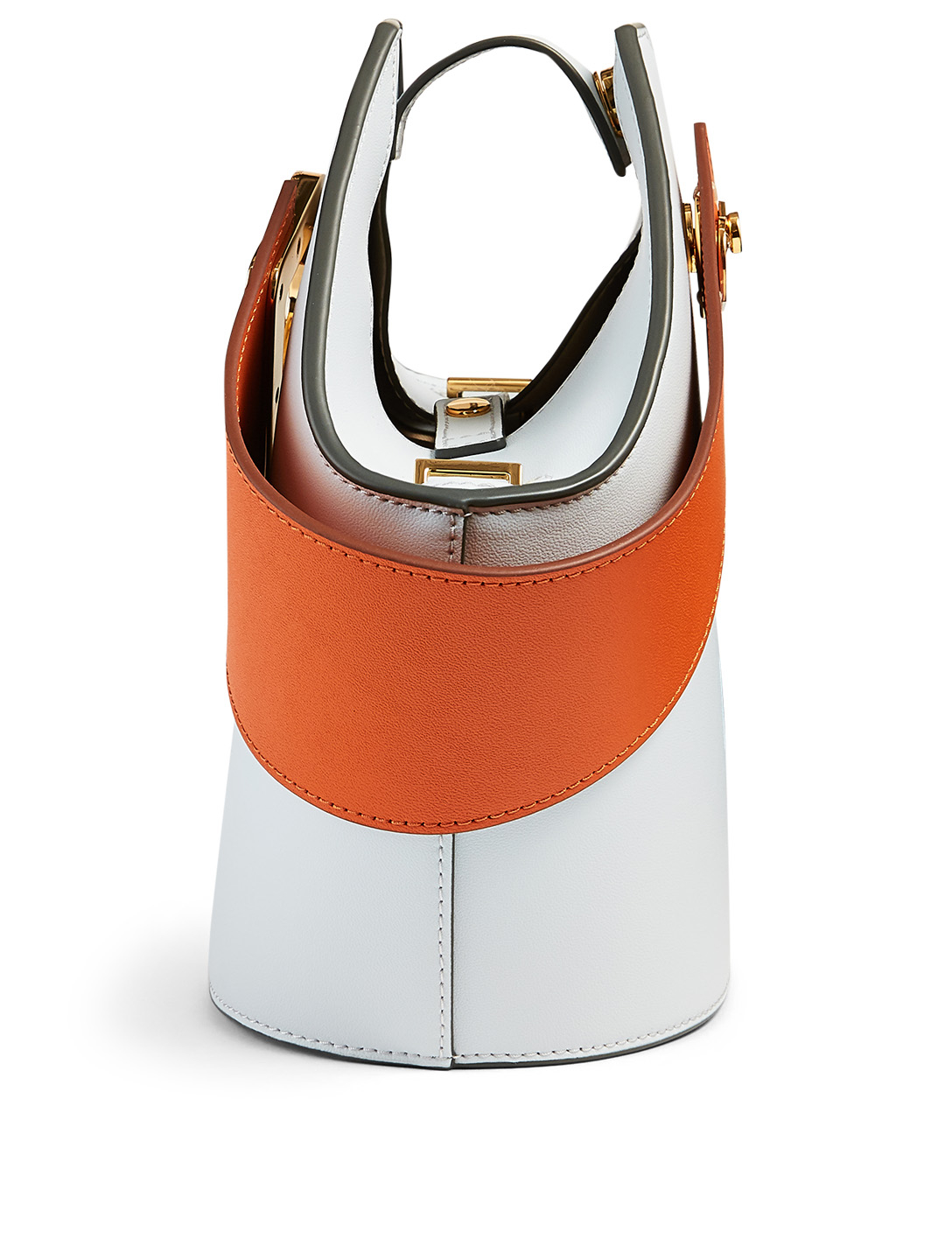 DANSE LENTE Mini Johnny Leather Hexagonal Bucket Bag Women's Multi