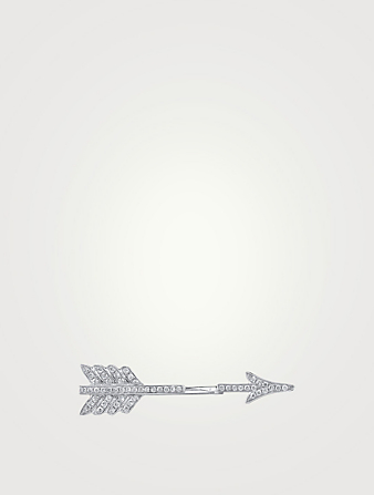 ANITA KO 18K White Gold Arrow Earring With Diamonds Women's Metallic