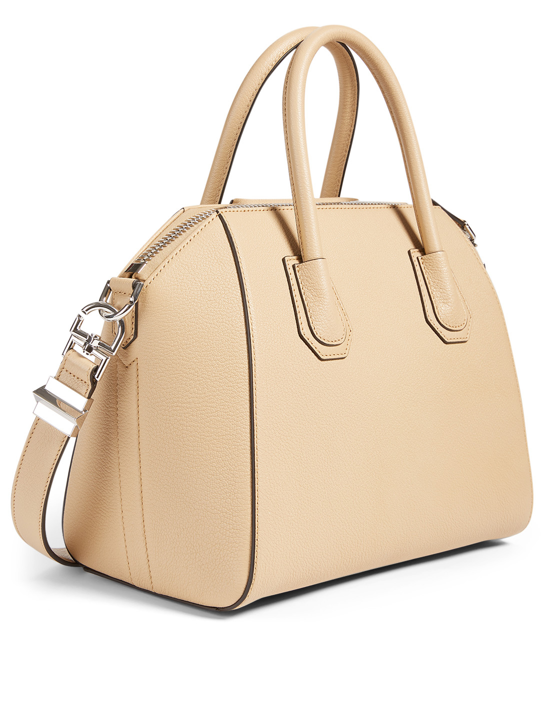 GIVENCHY Small Antigona Leather Bag Women's Beige