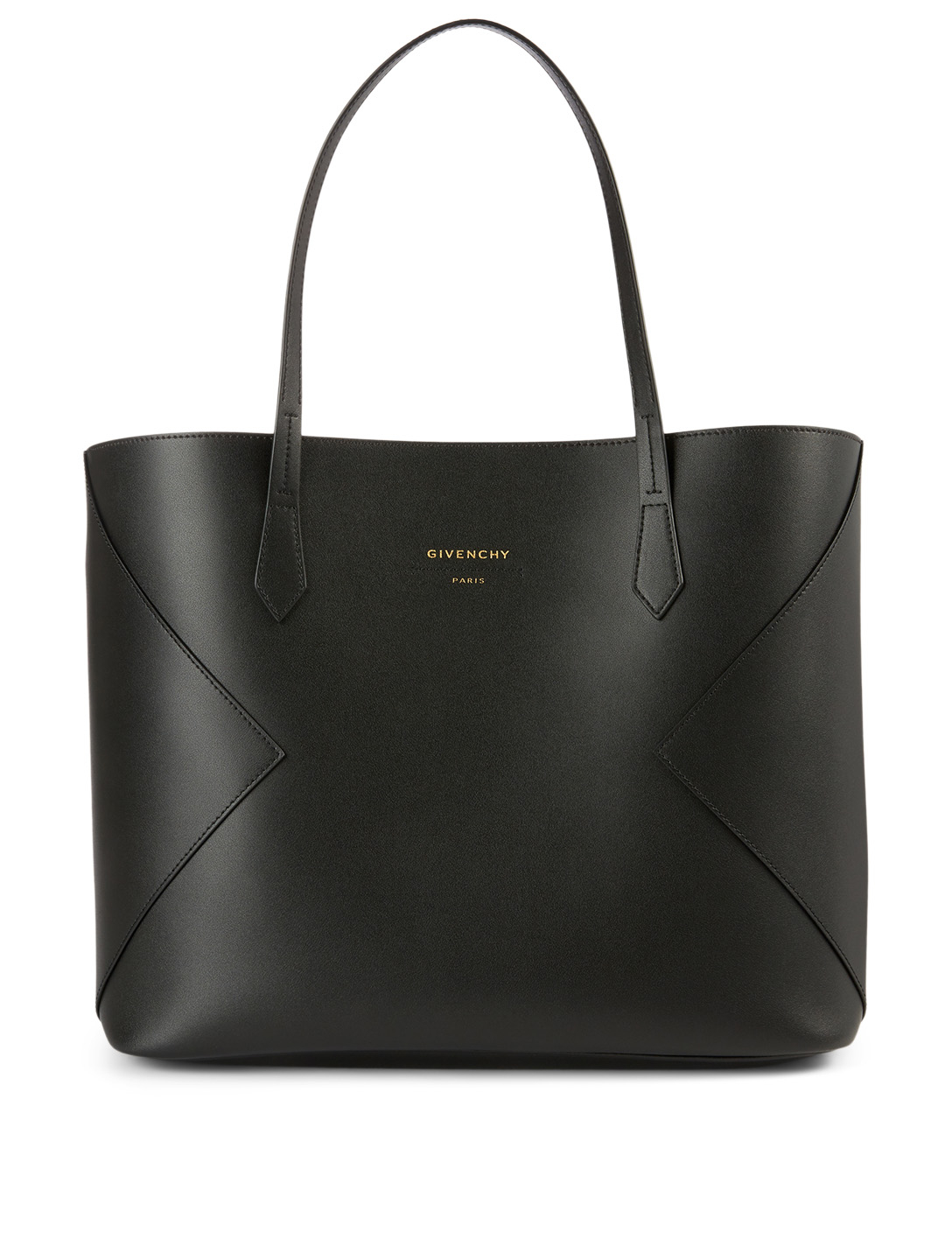 GIVENCHY Wing Leather Shopping Tote Bag Women's Black
