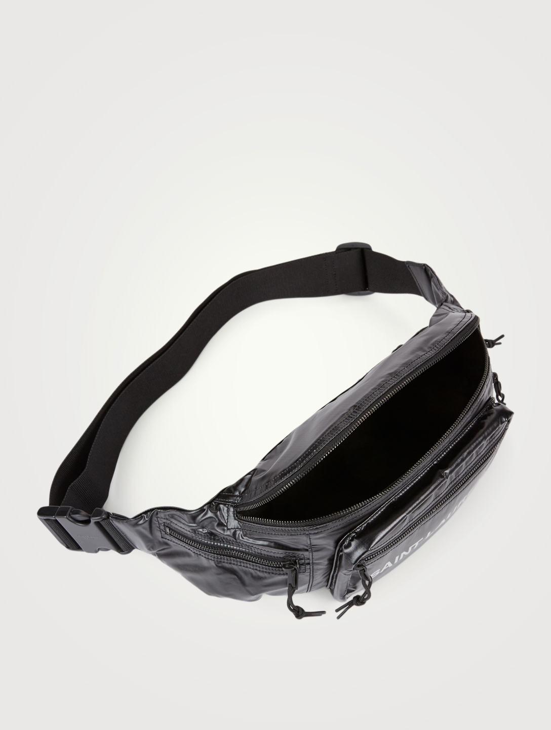 SAINT LAURENT Nuxx Nylon Belt Bag With Logo Men's Black