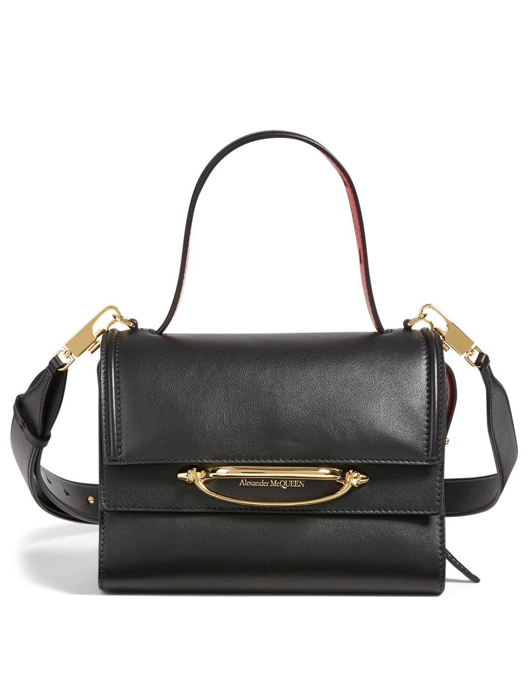 ALEXANDER MCQUEEN Small The Story Leather Bag Women's Black