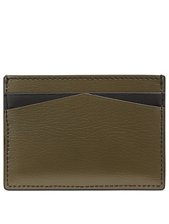 ALEXANDER MCQUEEN Skull And Stud Leather Card Holder Women's Green