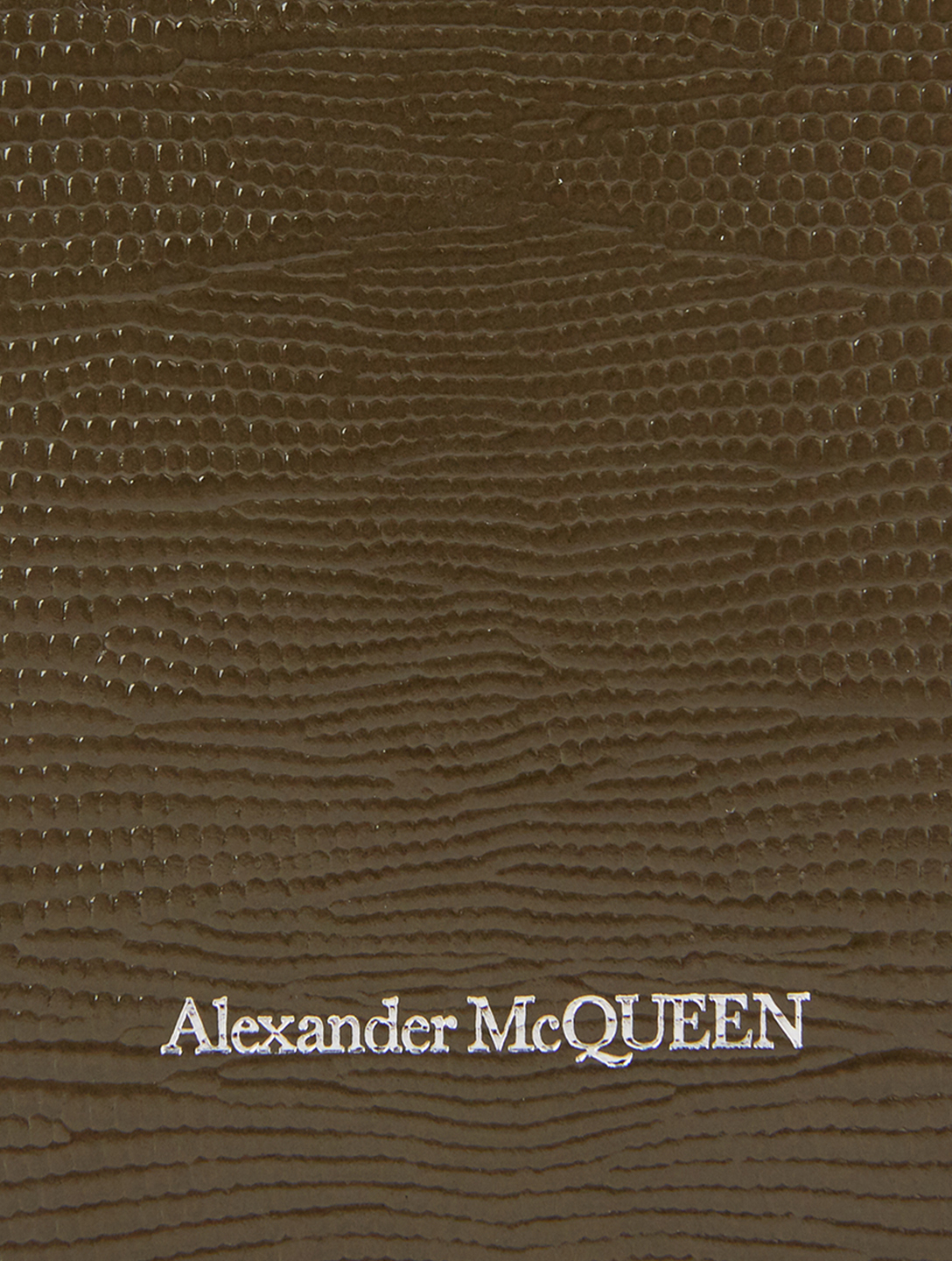 ALEXANDER MCQUEEN Small Skull And Stud Lizard-Embossed Leather Bag Women's Green