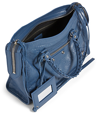 BALENCIAGA Small Classic City Leather Bag Women's Blue