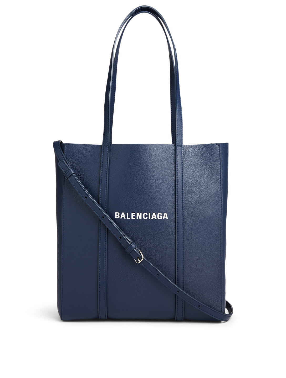 BALENCIAGA XS Everyday Leather Tote Bag Women's Blue