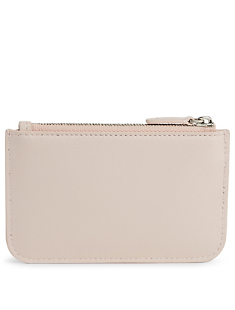 BALENCIAGA Cash Leather Card Case With Keyring Women's Pink