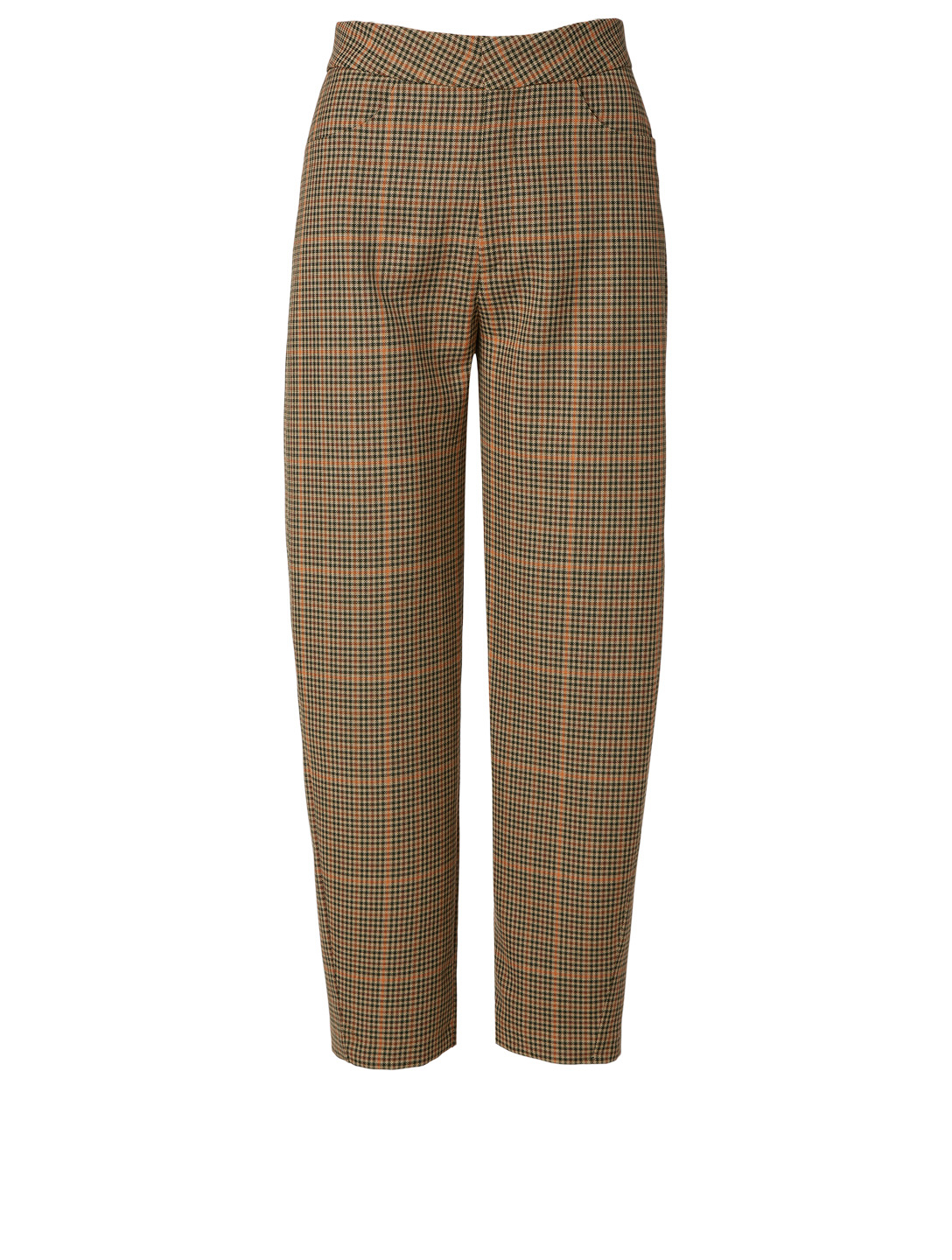 TOTÊME Novara Pants In Check Print Women's Brown
