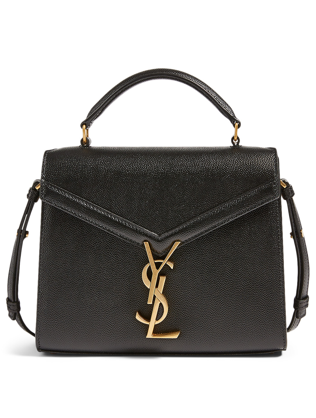 SAINT LAURENT Cassandra YSL Monogram Leather Bag Women's Black