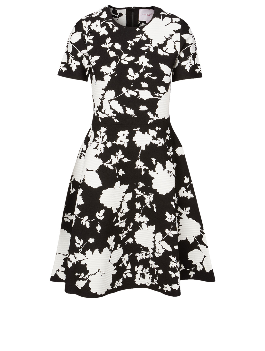CAROLINA HERRERA Jacquard Printed Dress Women's Black