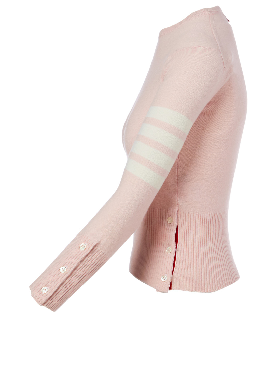 THOM BROWNE Cashmere Four-Bar Sweater Women's Pink
