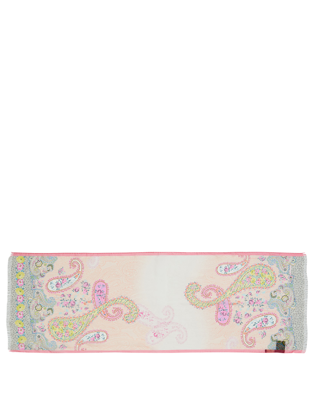 ETRO Silk Scarf In Paisley Print Women's Pink