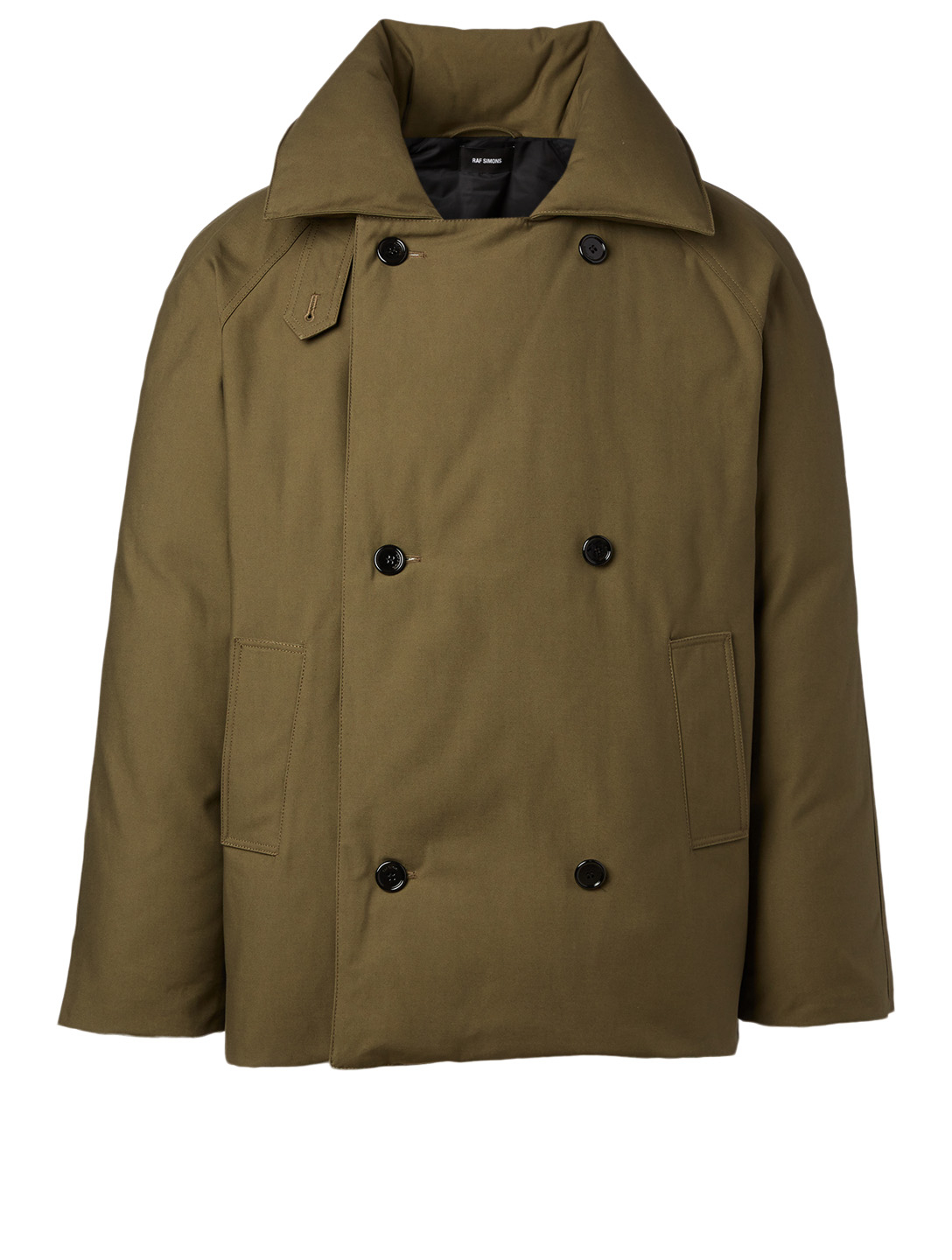 RAF SIMONS Double-Breasted Down Coat Men's Beige