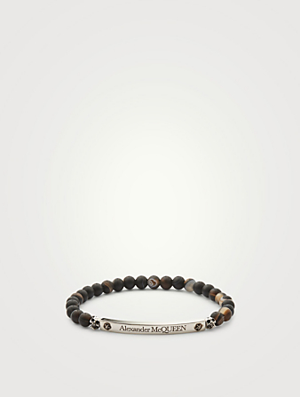 ALEXANDER MCQUEEN Beaded Bracelet Men's Black