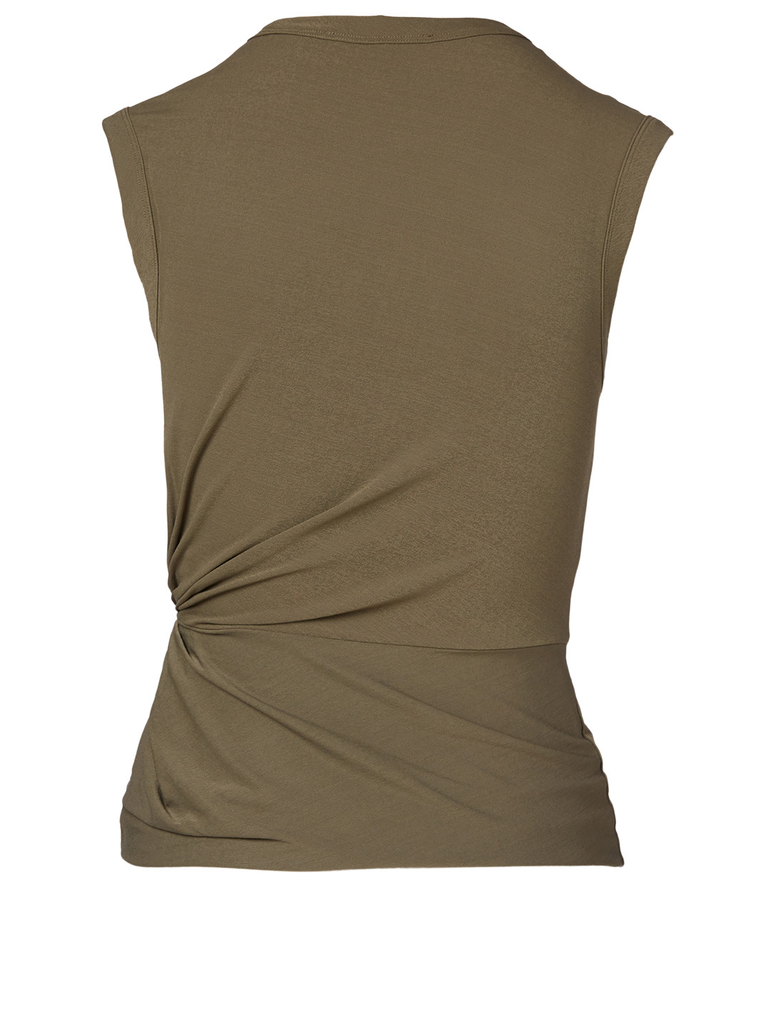 ALEXANDERWANG.T Crepe Twisted Sleeveless Top Women's Green