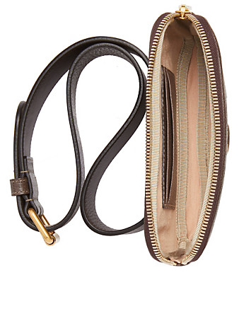 GUCCI Ophidia GG Supreme iPhone Belt Bag Women's Brown