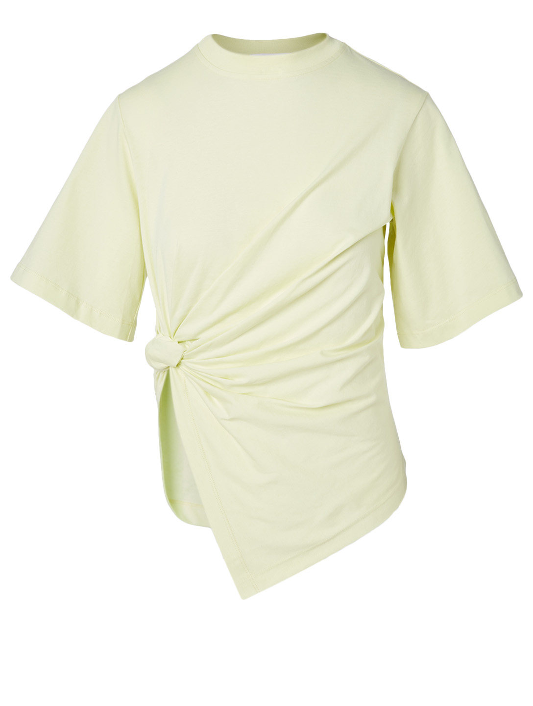 SEE BY CHLOÉ Cotton Knotted T-Shirt Women's Green