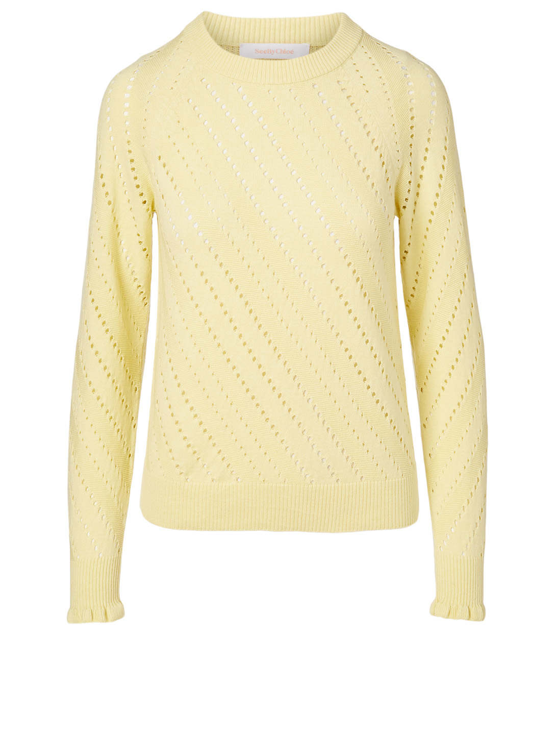 SEE BY CHLOÉ Cotton And Wool Sweater Women's Green