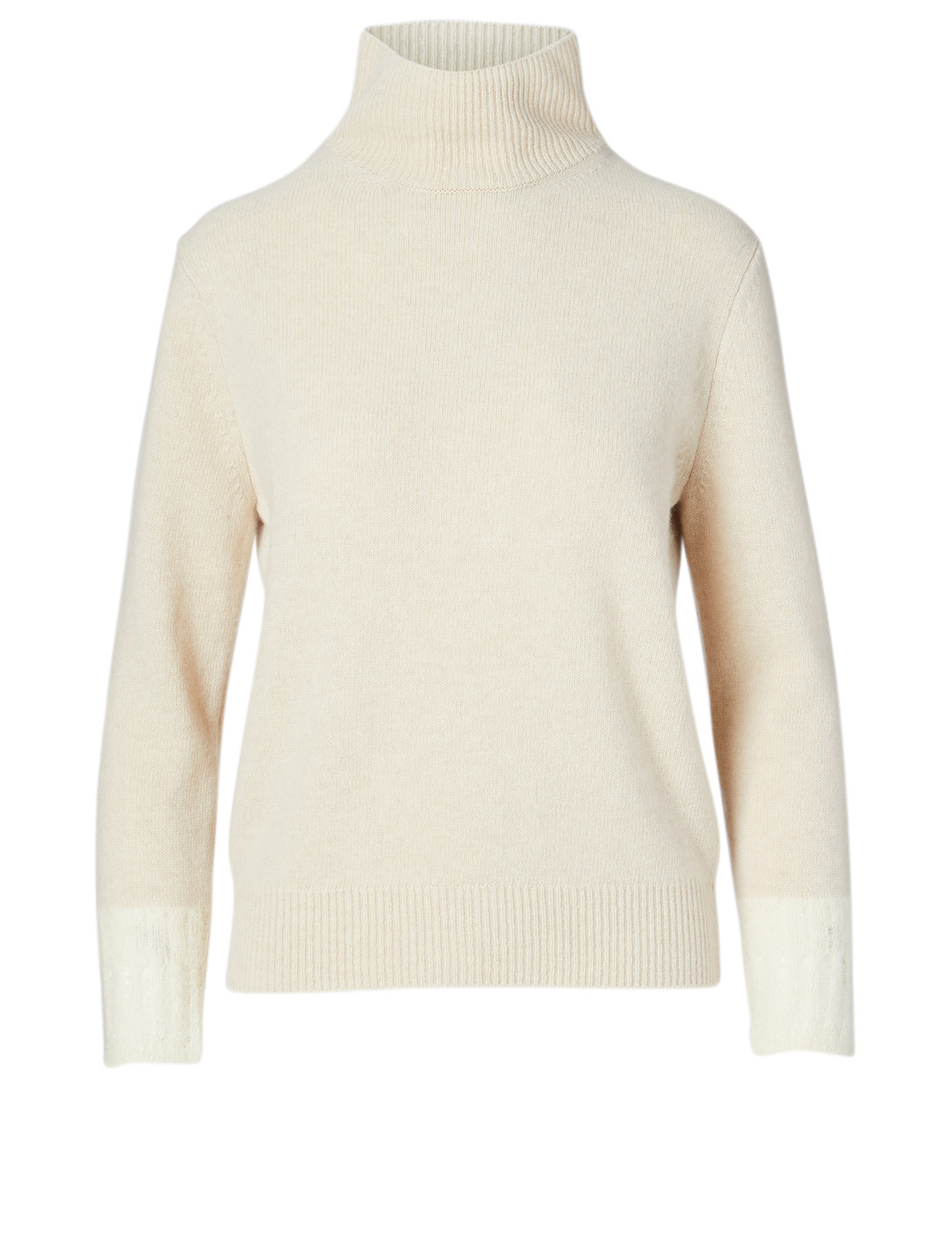 KUHO Wool And Cashmere Turtleneck Sweater Women's Beige