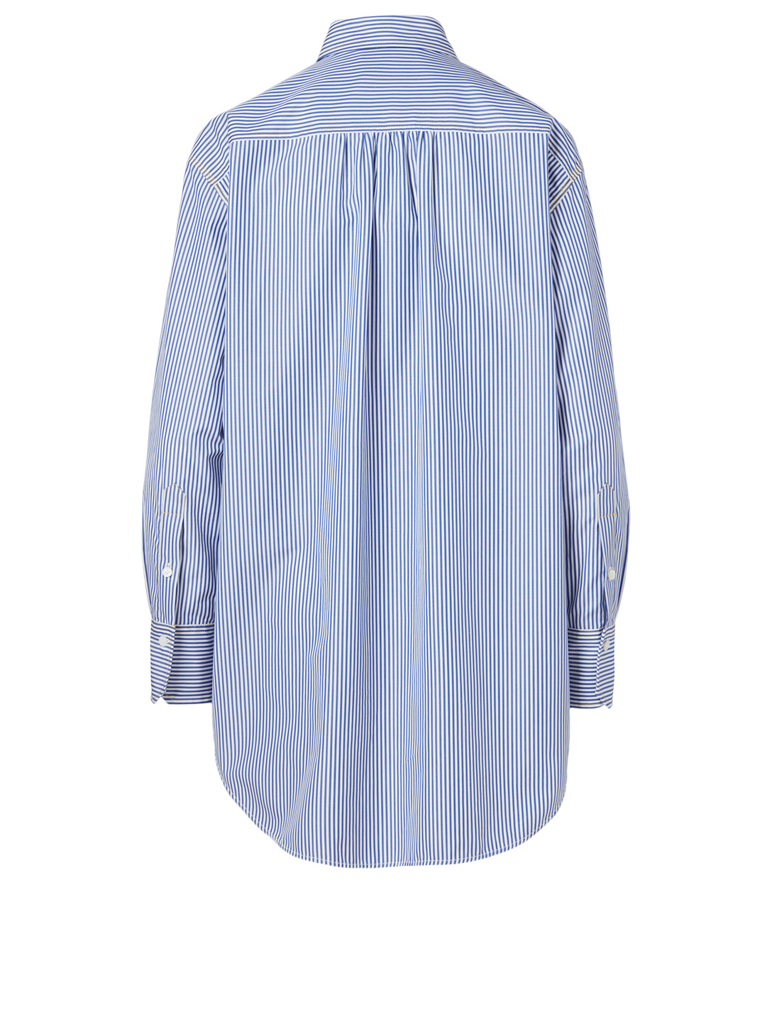 CHLOÉ Cotton Shirt In Striped Print Women's Blue