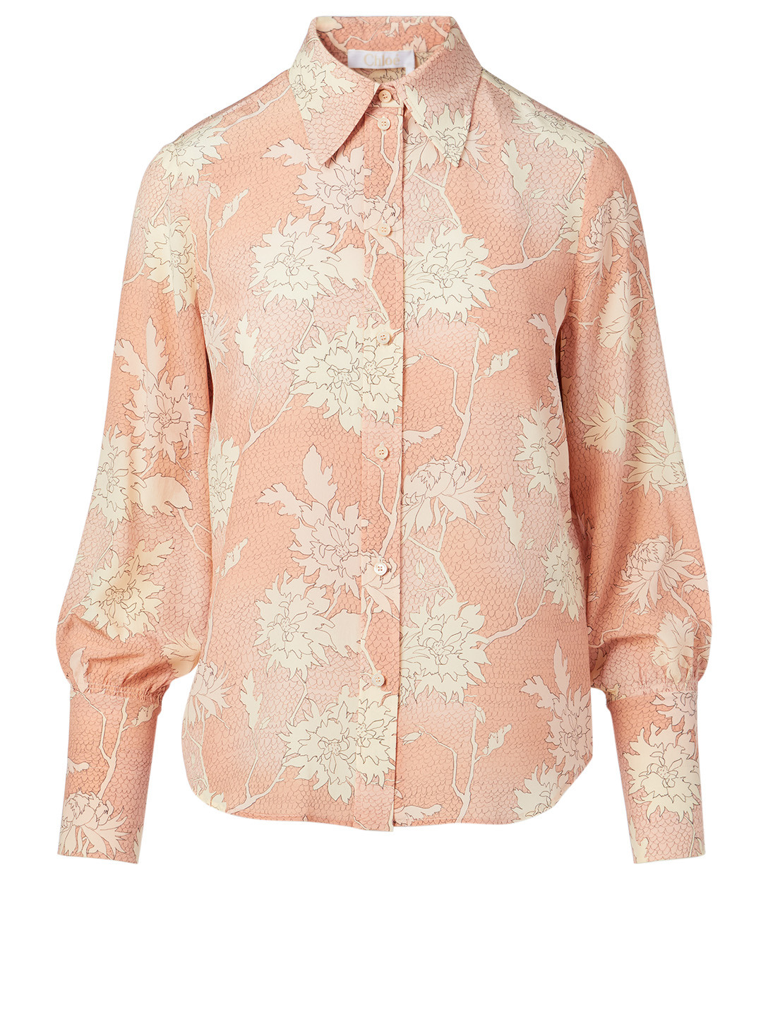 CHLOÉ Silk Shirt In Floral Print Women's Pink