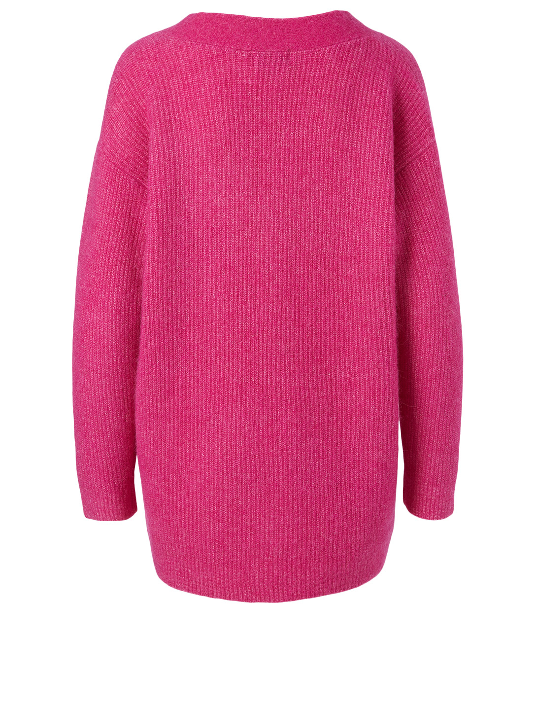 GANNI Alpaca And Wool V-Neck Sweater Women's Pink