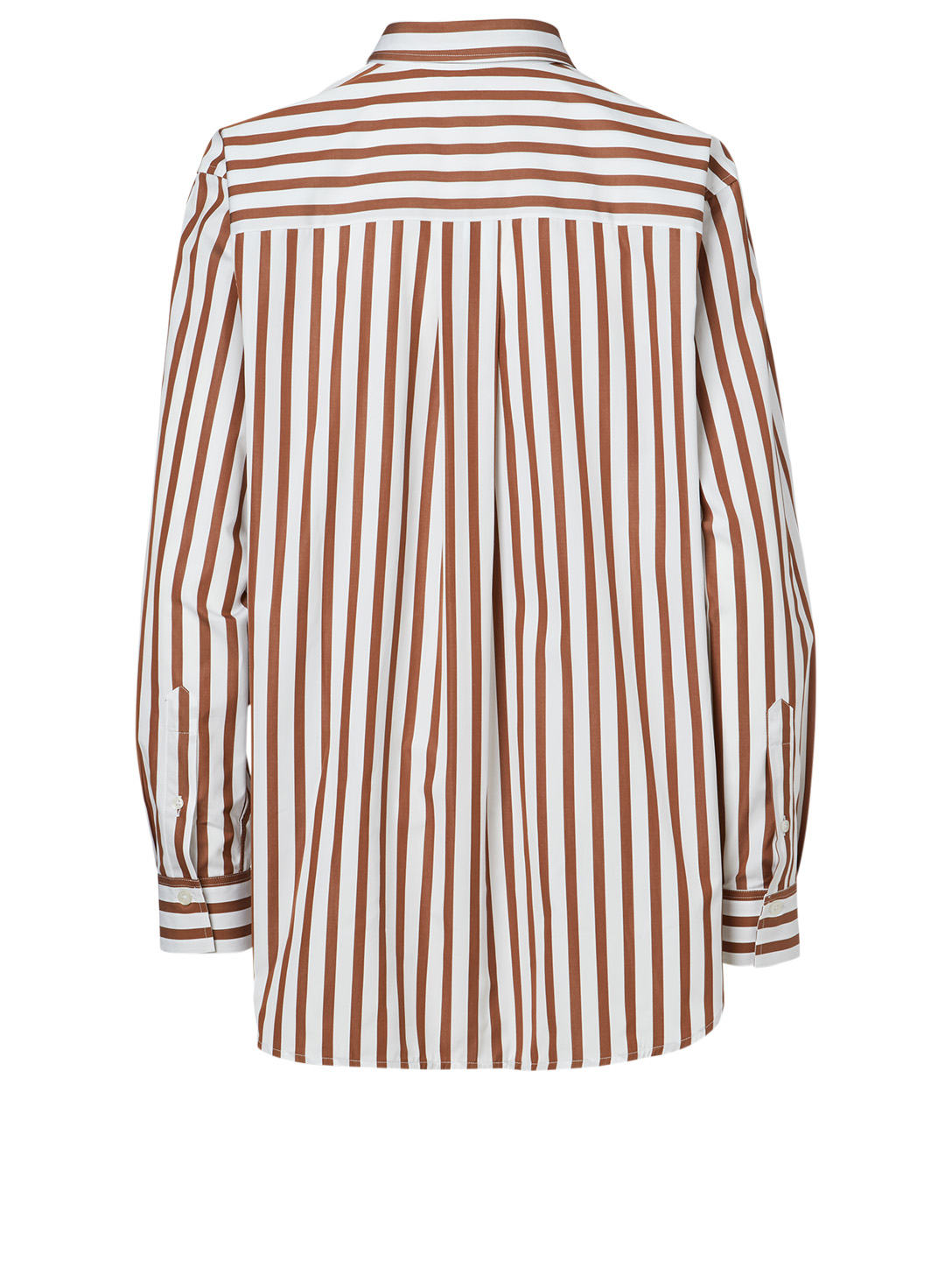 TOTÊME Capri Cotton Shirt In Stripe Print Women's White
