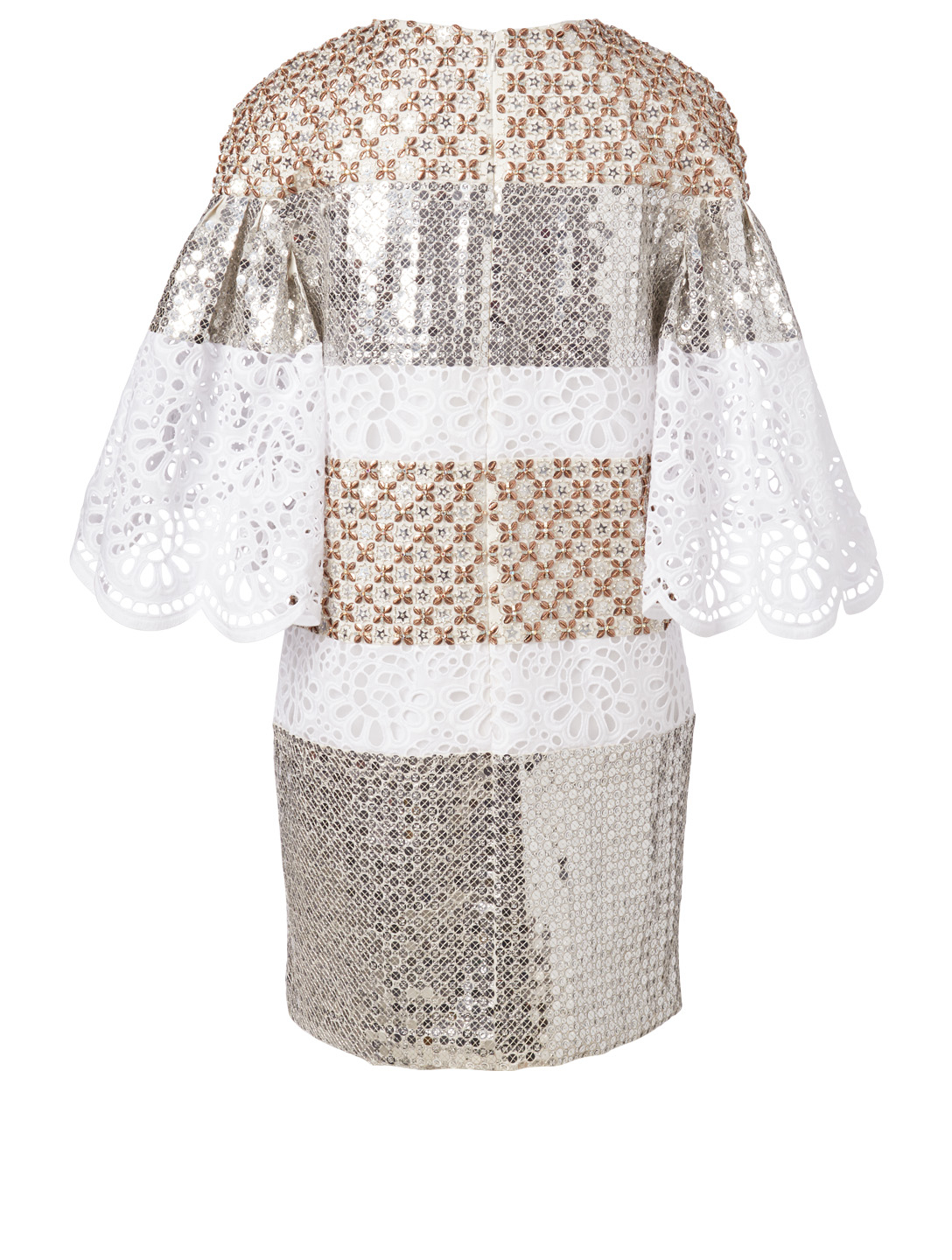 CAROLINA HERRERA Silk And Sequin Mini Dress Women's White