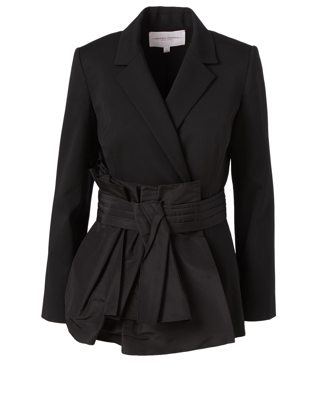 CAROLINA HERRERA Wool Stretch Blazer Women's Black