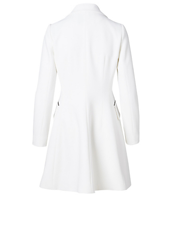 CAROLINA HERRERA Tuxedo Mini Dress Women's White