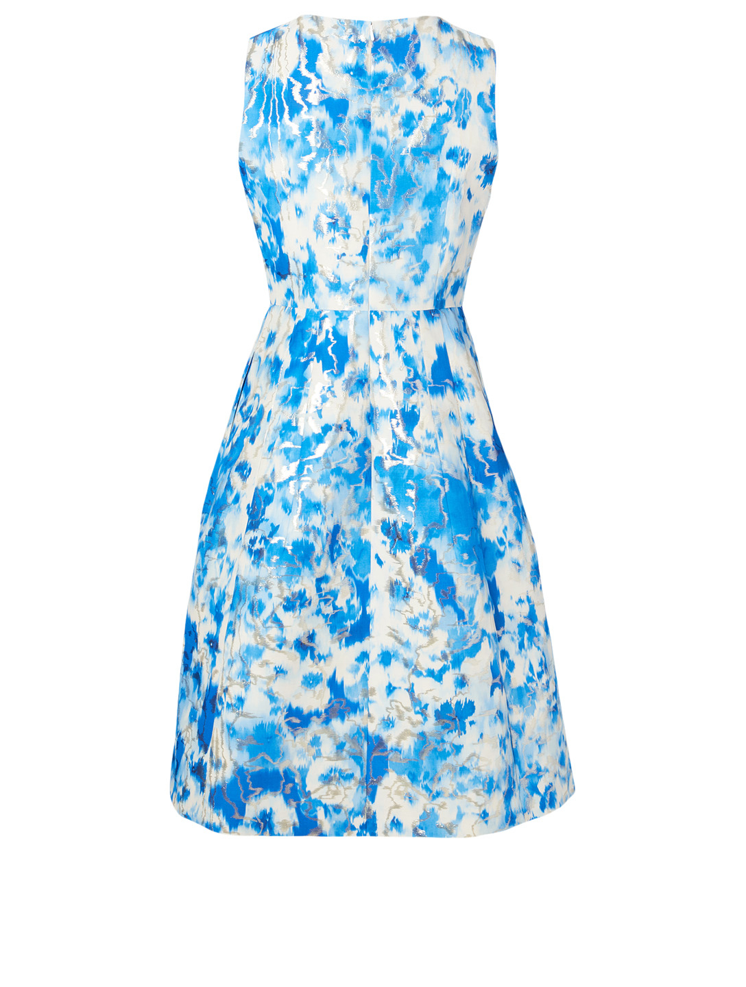 CAROLINA HERRERA Cotton And Silk Printed Dress Women's Blue