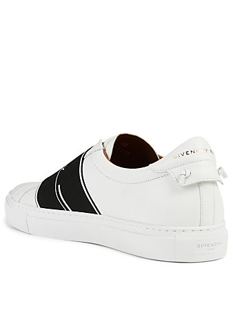 GIVENCHY Urban Street Leather Slip-On Sneaker With Logo Strap Men's White