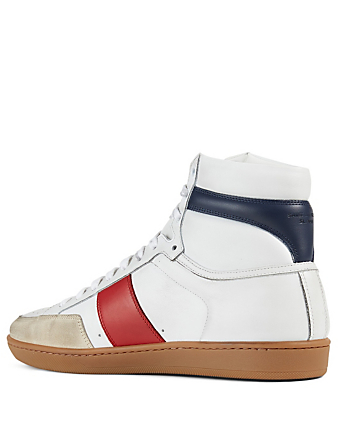 SAINT LAURENT Baskets Court Classic SL/10H en cuir Hommes Blanc