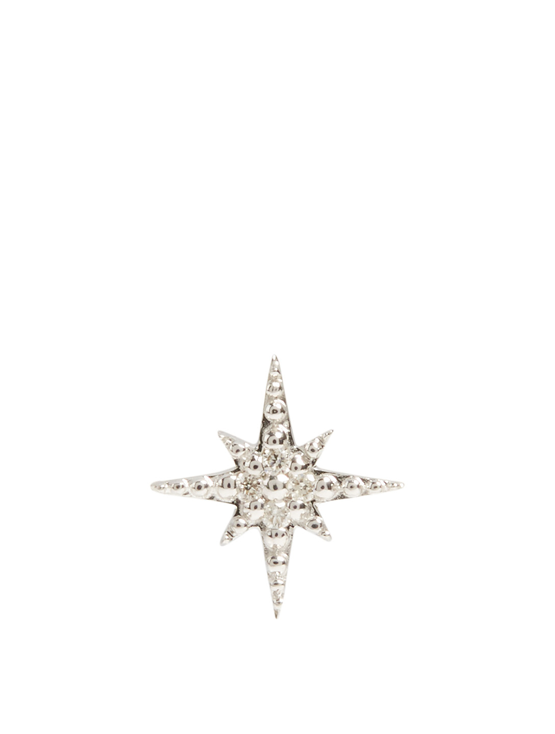 SYDNEY EVAN 14K White Gold Mini Starburst Earring With Diamonds Women's Metallic