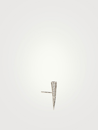 SYDNEY EVAN 14K White Gold Spike Earring With Diamonds Women's Metallic