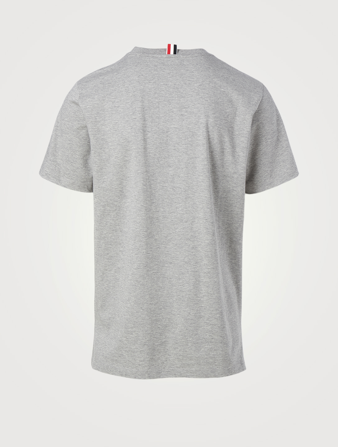 THOM BROWNE Crewneck T-Shirt With Side Slits Men's Grey