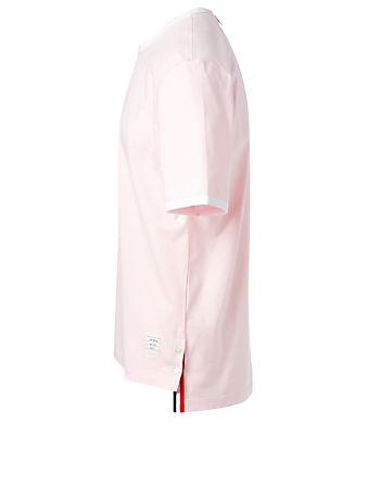 THOM BROWNE Cotton Ringer T-Shirt Men's Pink