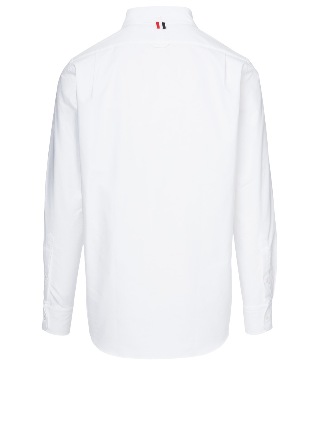 THOM BROWNE Cotton Shirt With Dolphin Embroidery Men's White