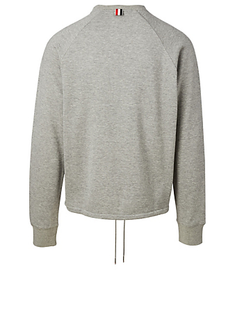 THOM BROWNE Drawstring Sweatshirt Men's Grey