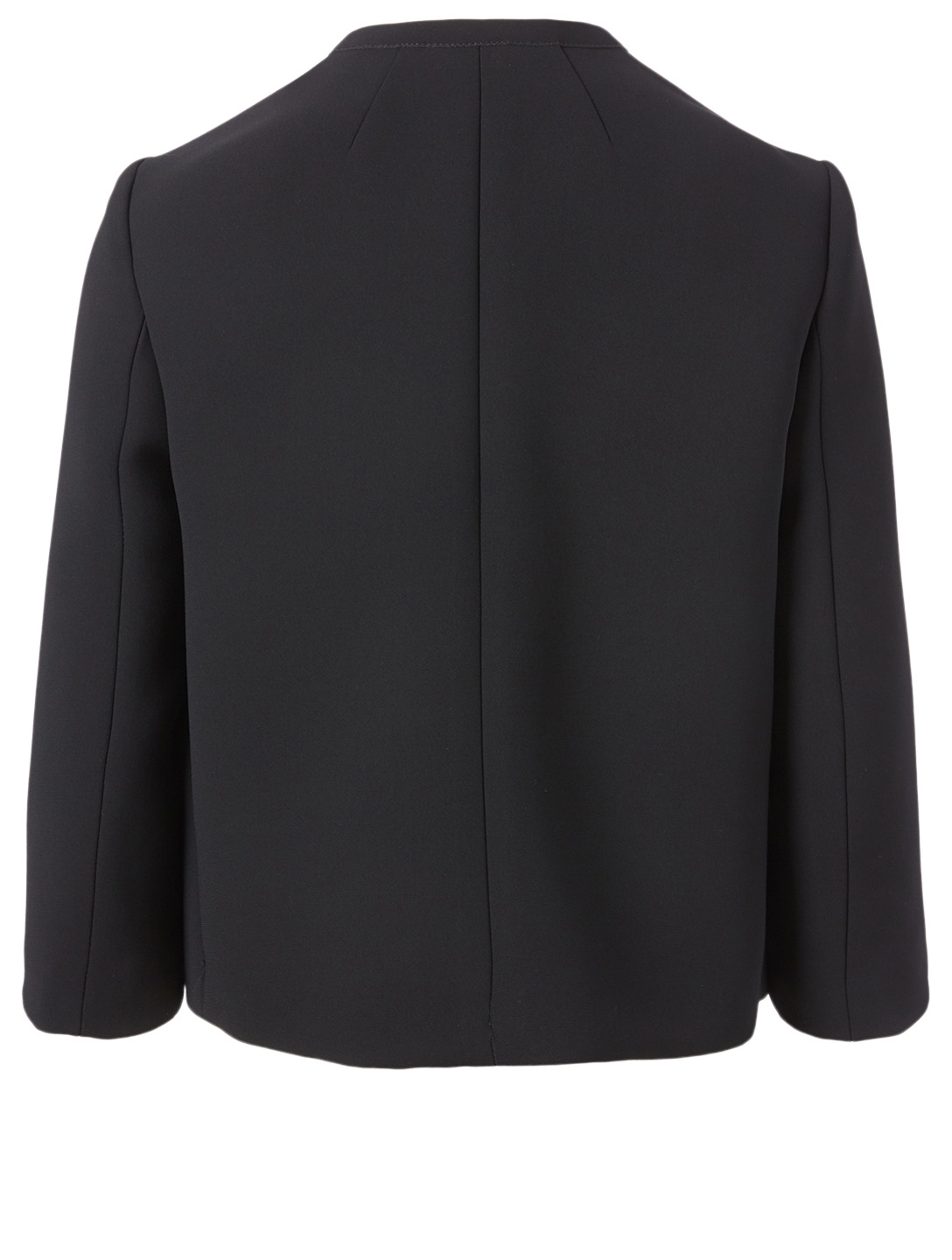 RED VALENTINO Roundneck Jacket With Bow Women's Black
