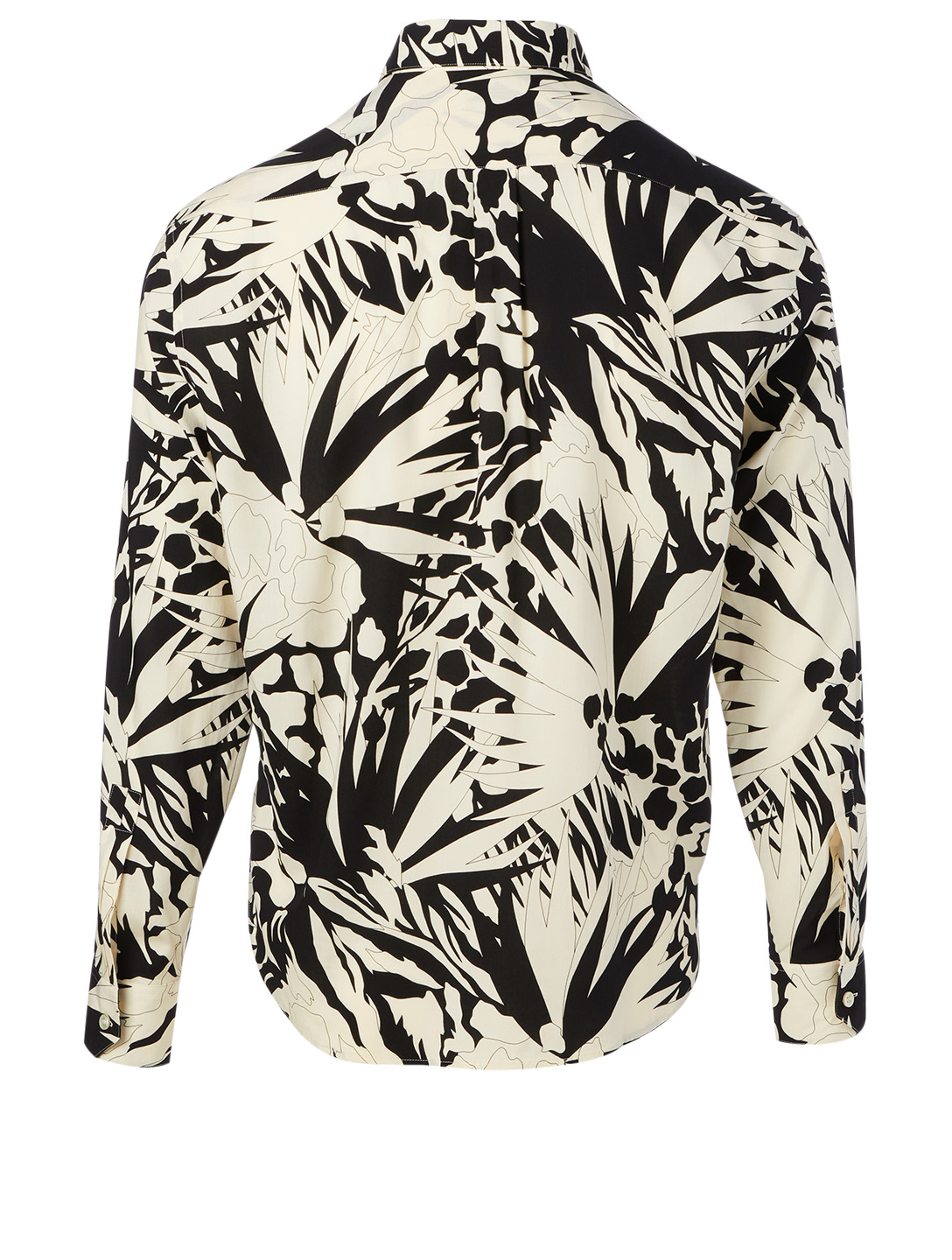 SAINT LAURENT Long-Sleeve Shirt In Jungle Print Men's Black