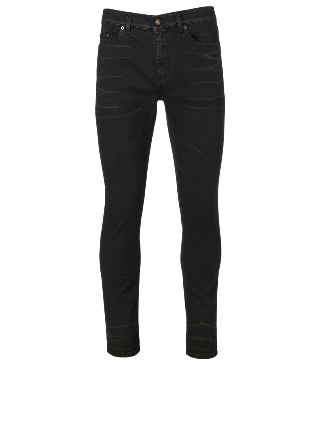 SAINT LAURENT Cropped Skinny Jeans Men's Black