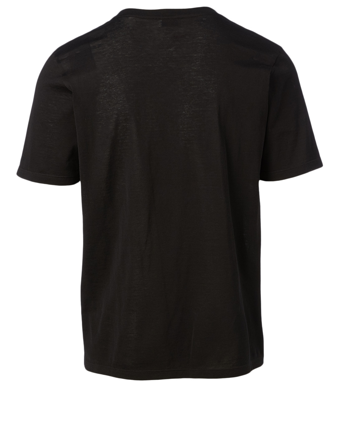 SAINT LAURENT Cotton Jacquard T-Shirt Men's Black