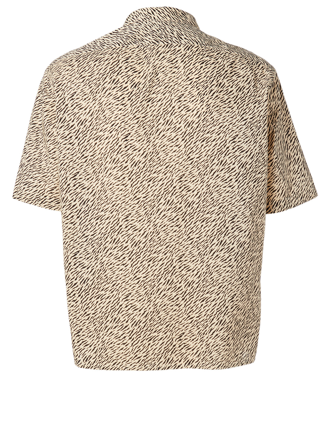 SAINT LAURENT Cotton Short-Sleeve Shirt In Zebra Print Men's Beige