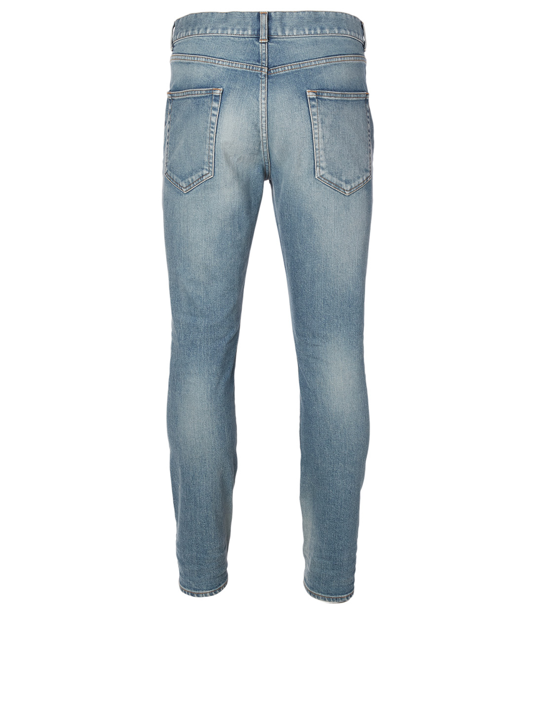 SAINT LAURENT Stretch Skinny Jeans Men's Blue
