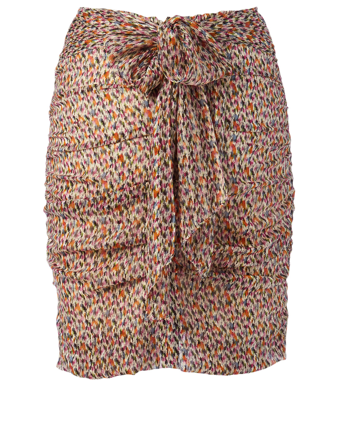 BA&SH Dina Silk-Blend Printed Skirt Women's Beige